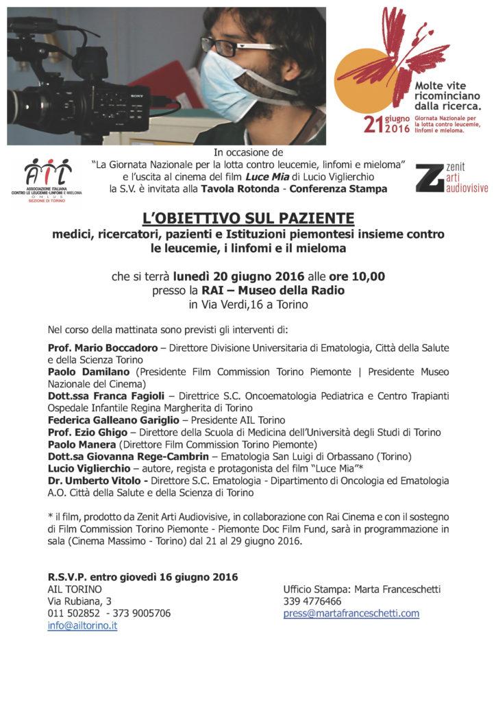 Bozza_Invito conf Cinema AIL-LUCE MIA 20 giugno 2016_rev